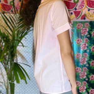 J. Crew Tops - J. crew Baby pink Sleep button down shirt pajama